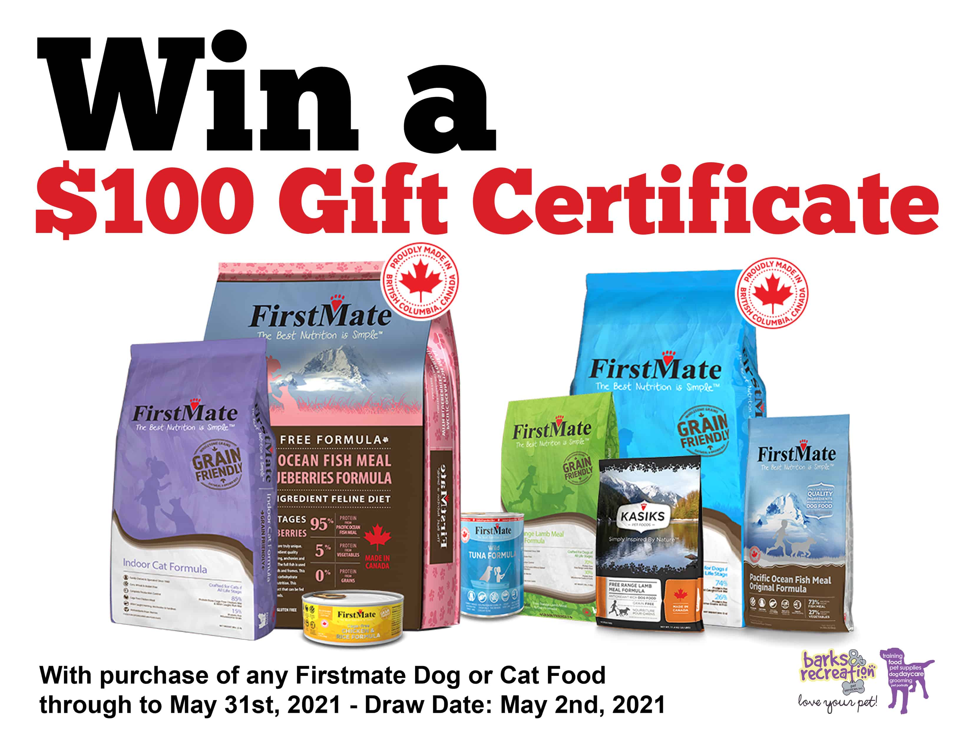 Win a $100 Gift Certificate Firstmate Giveaway