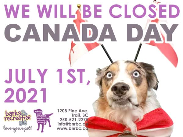 Barks and Recreation in Trail, BC Canada Day Hours